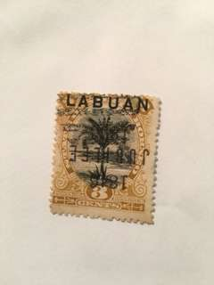 Labuan rare stamp inverted jubilee overprint