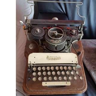 1905年美國製 HAMMOND 12 型古董打字機