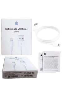 """Apple lightning cable with serial code and cable marks """"Brand new"""" Order now"""