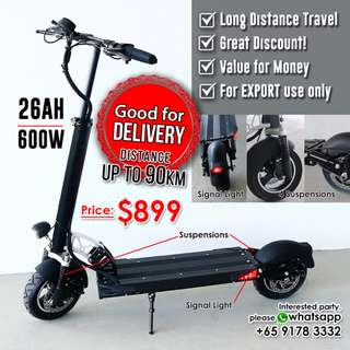 Powerful Electric Scooter • Distance up to 90KM • 26AH Battery • Good for Delivery • Great Discount!!!