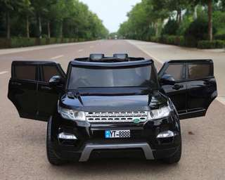 Black Land Rover Rechargeable Ride On Car SUV