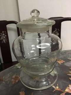 Vintage 60s glass jar