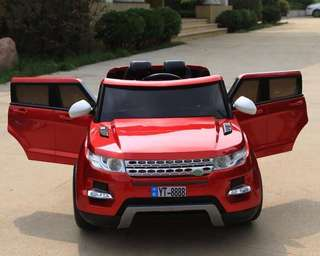 Red Land Rover Rechargeable Ride On Car SUV