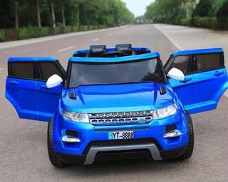 Blue Land Rover Rechargeable Ride On Car SUV