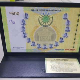 SHARING - Malaysia 60th Anniversary RM600 commemorative note