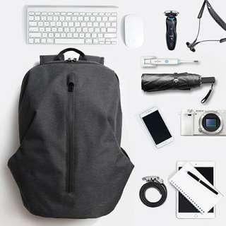 🚚 双肩包男个性休闲17寸男士背包电脑旅行包学生书包男运动时尚潮流