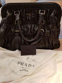 Preloved PRADA bags (dark brown)