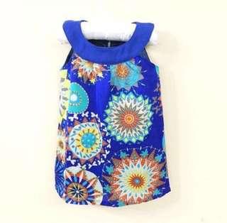 ⚡️ FLASH SALE ⚡️ BN Camouflage Girl's Blue Mandala Dress 💯