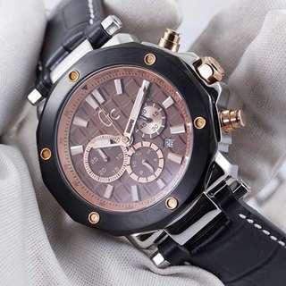Jam Tangan Guess Gc-3 X72018G4S Kulit Hitam KW Super Premium Quality