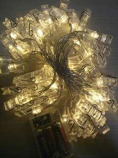 40 clips LED lights