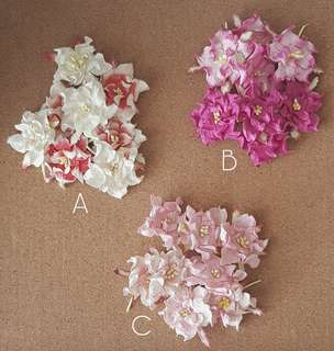 Mulberry Paper Flowers (Set of 8)