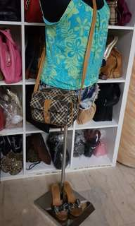 Authentic Burberry Sling and Wedge Sandals