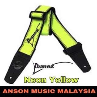 Ibanez GS601F Guitar Strap, Neon Yellow