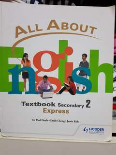 Sec 2 express All About English Textbook