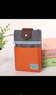 Korean style mini passport travel pouch