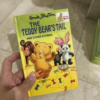 The teddy bear's tail