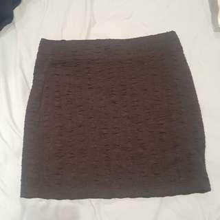 Size 8 Black tight mini skirt