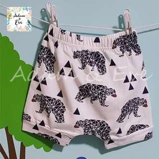 Assorted Graphic Shorts E8 – Geometrics Bear Shorts $8.90