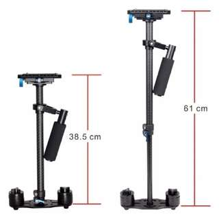 YELANGU S60T Portable Carbon Fiber 60cm Handheld Camera Stabilizer DSLR Camcorder Video Steadicam