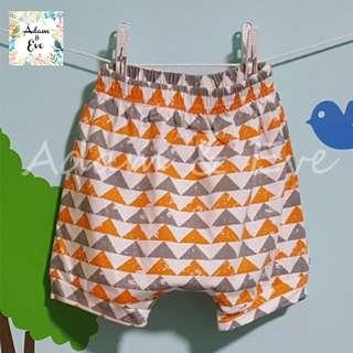 Assorted Graphic Shorts E11 –Orange Triangles Shorts $8.90