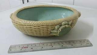 80年代陶瓷花盆 ~古舊水仙花盆