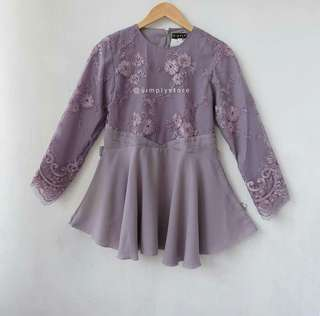 Brokat lace purple