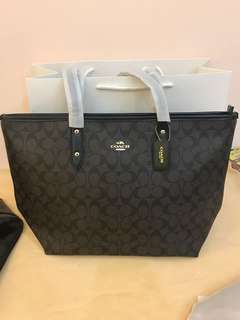 Original coach women city tote handbag