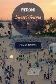 Peroni sunset cinema ticket - 13th May