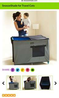 Snooze shade Travelcot cover / blackout cover