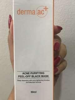 derma ac+ acne purifying peel-off black mask