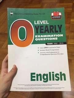 O Level English, Chem, Physics Assessment Books