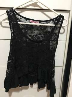 Supre Floral Laced Top M