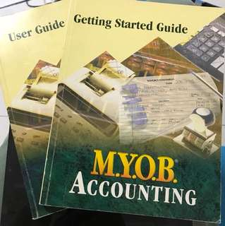 MYOB accounting book