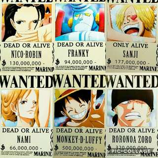 One Piece Wanted Posters Latest