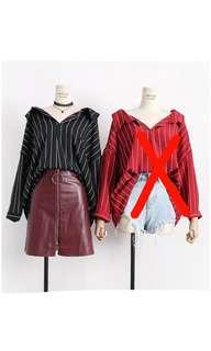 cropped blouse BLACK