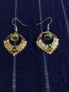 Genuine silver earrings