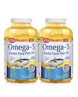 [IN-STOCK] VITAREALM Omega-3 Alaska Tuna Fish Oil 300's x 2 (Bundle)
