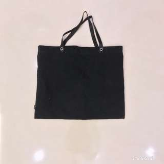 Black canvas tote bag mphosis