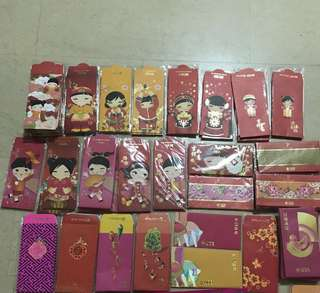 More than 100 packs of red packets