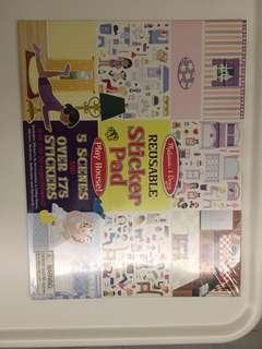 Brand New Melissa & Doug Sticker Pad