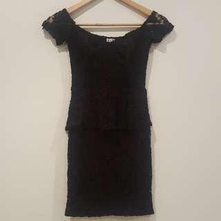 Angel Bibs 6 Black Lace Dress