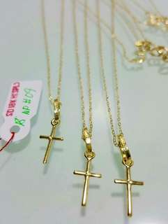 18K|750 Cross Necklace Genuine Gold