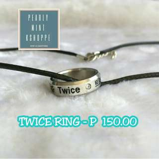 TWICE Merch: Ring + Necklace