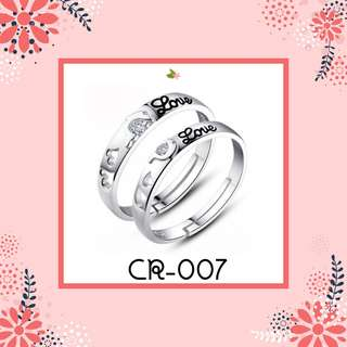 Sliver 925 Couple Ring (CR-007)