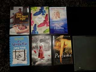 Assorted books $4