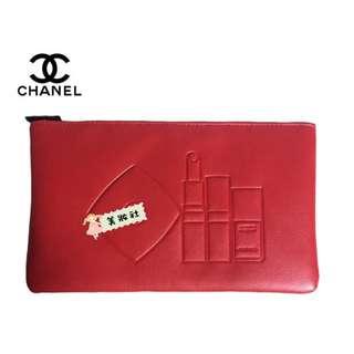 【CHA*EL】化妝品 圖案 拉鍊化妝包:紅色  ( $105 - 包順豐 )