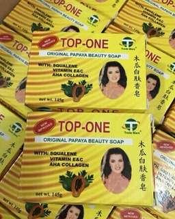 "Original ""Top One"" beauty papaya soap."