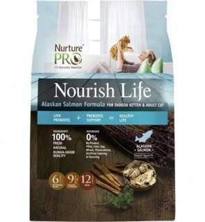 Nurture Pro Nourish Life Alaskan Salmon Formula for Indoor Kitten & Adult Cat 12lb