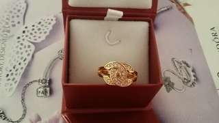 24k GOLD PLATED Chanel Ring