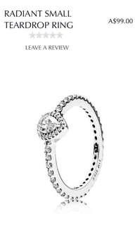 pandora teardrop ring